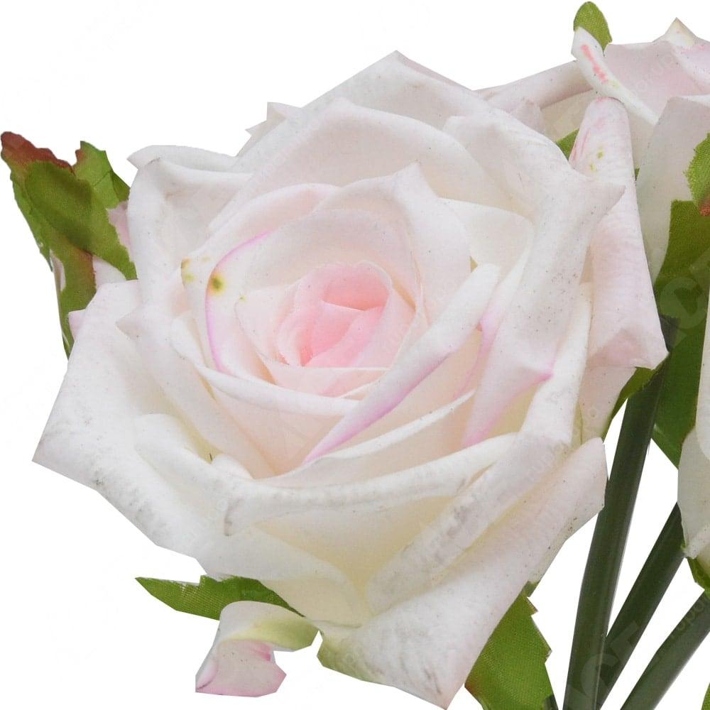Jual Arthome Bunga Artifisial Mawar Putih 18 Cm Original Ace