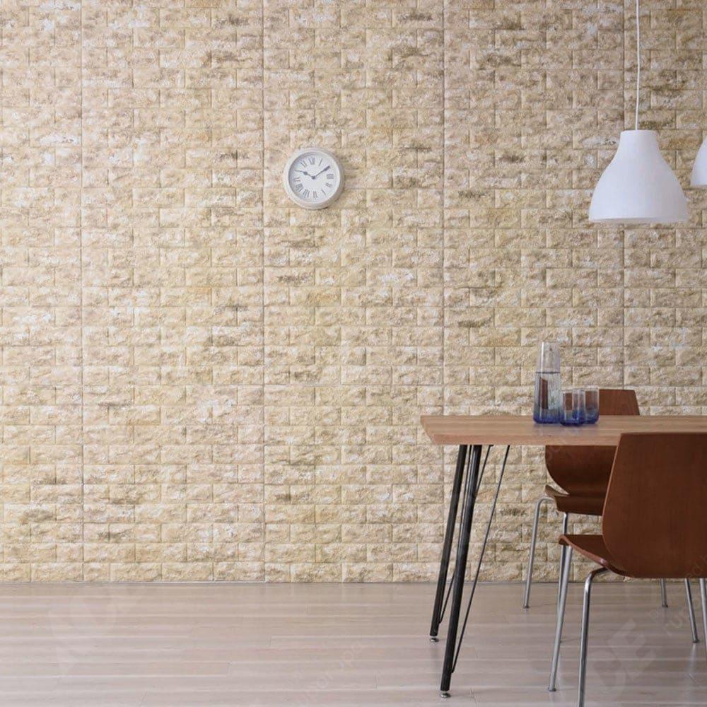 Arthome Wallpaper 3d Motif Bata 70x77 Cm Cokelat