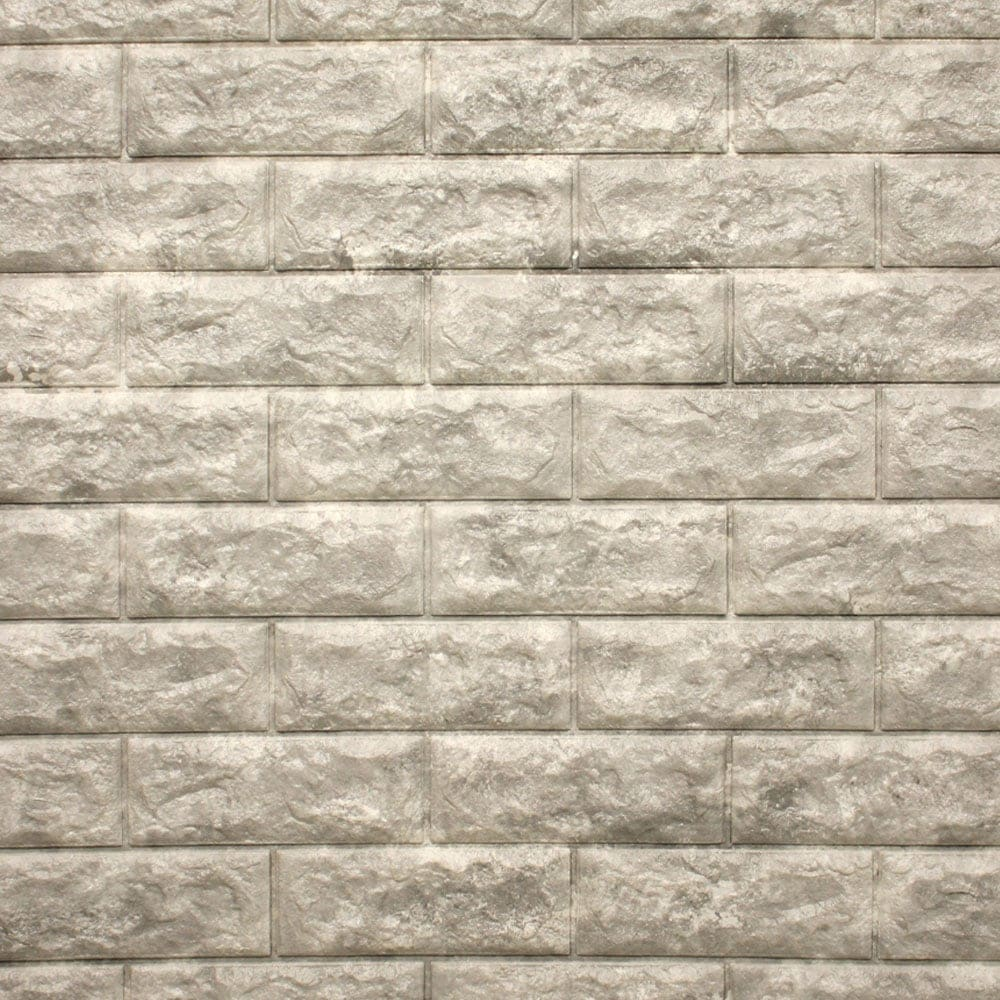 Arthome Wallpaper 3d Motif Bata 70x77 Cm Abu Abu