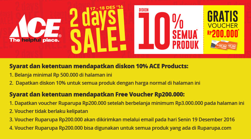 All day sale