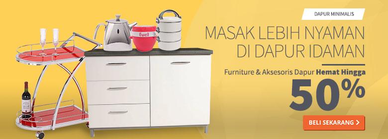 Furniture dan Aksesoris Dapur Hemat Hingga 50%