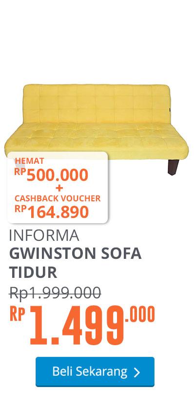 GWINSTON SOFA TIDUR - KUNING