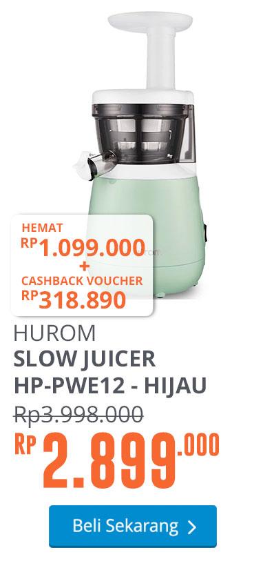 HUROM SLOW JUICER HP-GWE12 - HIJAU PASTEL