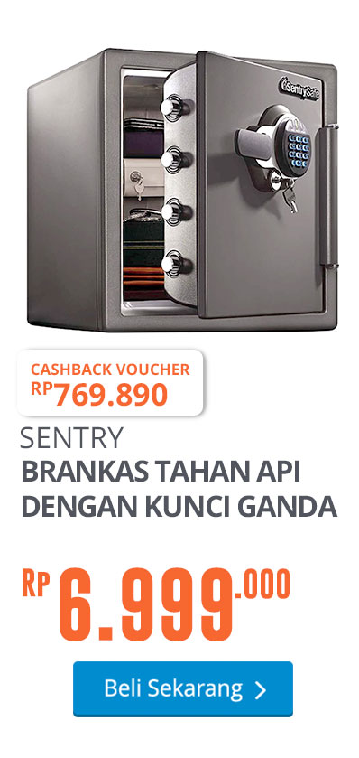 SENTRY SAFE BRANKAS TAHAN API DENGAN KUNCI GANDA STW123GDC