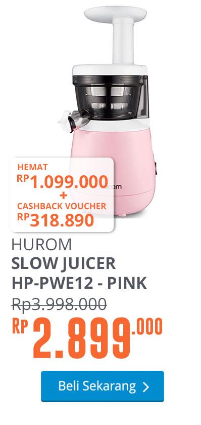 HUROM SLOW JUICER HP-PWE12 - PINK PASTEL