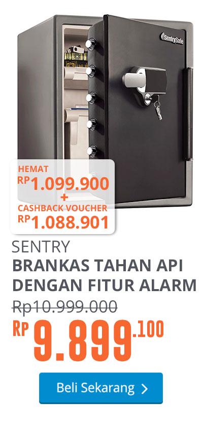 SENTRY SAFE BRANKAS TAHAN API DENGAN FITUR ALARM SFW205UPC