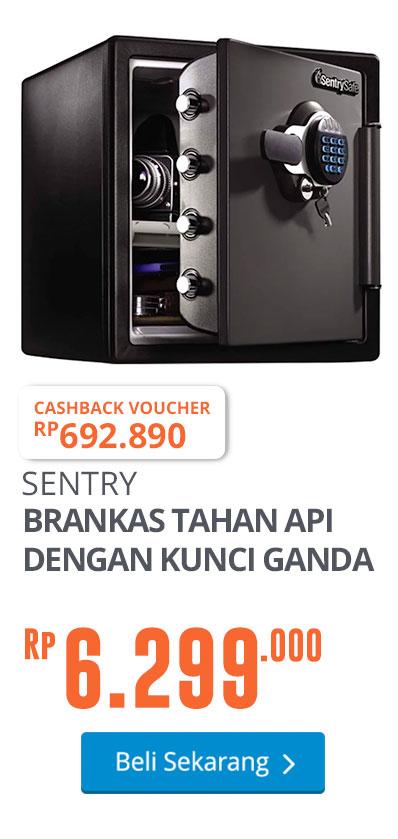 SENTRY SAFE BRANKAS TAHAN API DENGAN KUNCI GANDA SFW123GTC