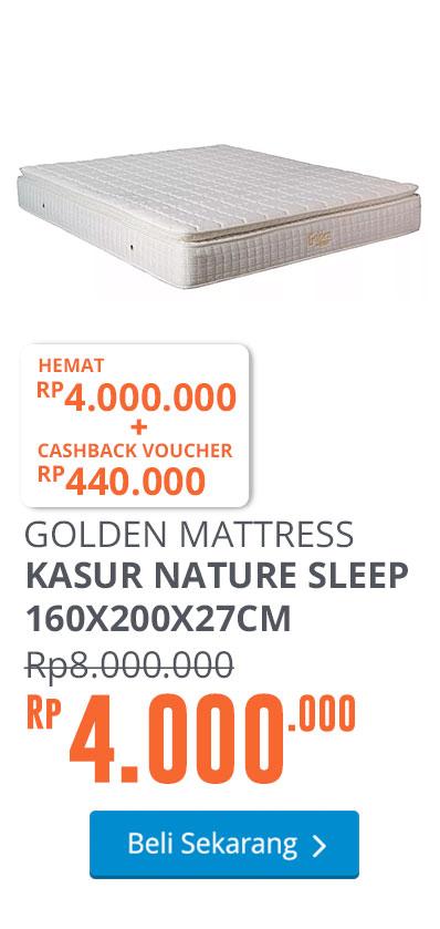 GOLDEN MATTRESS KASUR NATURE SLEEP 160X200X27CM - PUTIH