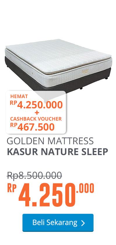 GOLDEN MATTRESS KASUR NATURE SLEEP - PUTIH