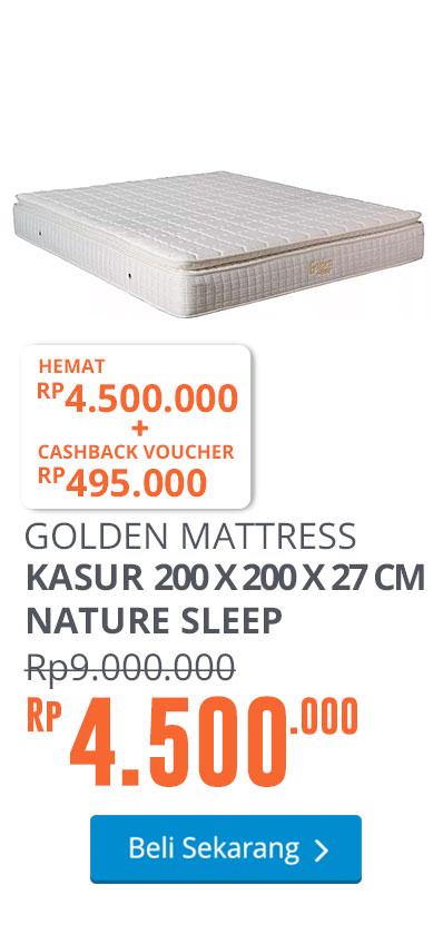 GOLDEN MATTRESS KASUR 200 X 200 X 27 CM NATURE SLEEP - PUTIH