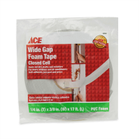 ACE ISOLASI PVC FOAM WIDE GAP 6.35 X 9.5 X 432 MM