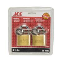 ACE SET GEMBOK KUNINGAN 1 1/2 INCI 2 PCS