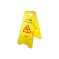 KRISBOW FLOOR SIGN CAUTION WET FLOOR