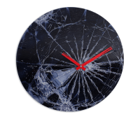 NEXTIME JAM DINDING GLASS CRASH DIAMETER 43 CM - HITAM