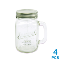 DELICIA SET MUG MASON 473 ML 4 PCS