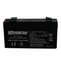 KRISBOW BATERAI AKI RECHARGEABLE  6V 1.3AH SEALED LEAD ACID