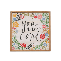 HIASAN DINDING VINTAGE YOU ARE LOVED 45X45 CM