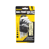KRISBOW SET KUNCI L BALLPOINT HEX 1,5-10 MM 20 CM 9 PCS