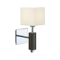 MARKSLOJD MILTON LAMPU DINDING - WALNUT KHROM