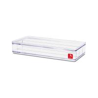 BOXBOX KOTAK PENYIMPANAN SERBAGUNA 3 KOMPARTEMEN - TRANSPARAN