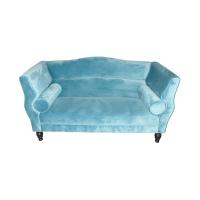 kingston sofa 2 dudukan - biru