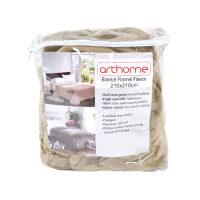 Arthome Selimut Flanel Fleece 210x210 cm - Cokelat