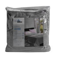 Arthome Selimut Flanel Fleece 160x200 cm - Abu-Abu