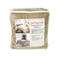 Arthome Selimut Embos Fleece 210x210 cm - Cokelat