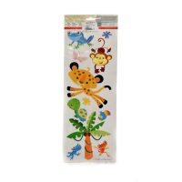 BREWSTER STIKER DINDING ANIMALS OF THE RAIN FOREST