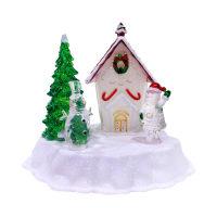 ARTHOME HIASAN NATAL LED SANTA & SNOWMAN HOUSE