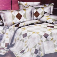 KRISHOME BED COVER 210X210 CM KING F03