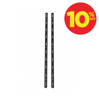 PENYANGGA RAK DINDING SINGLE 50 CM 2 PCS - HITAM