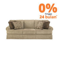 ASHLEY SHEFFIELD PLATINUM SOFA 3 DUDUKAN