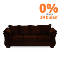 ASHLEY DARCY SOFA 3 DUDUKAN - COKELAT TUA