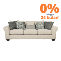 ASHLEY SILSBEE SOFA 3 DUDUKAN - KREM