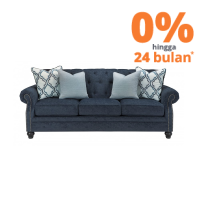 ASHLEY LAVERNIA SOFA 3 DUDUKAN - BIRU NAVY