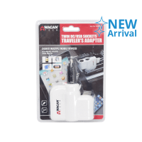 WAGAN TECH TWIN USB SOCKETS TRAVELERS ADAPTER