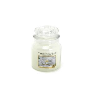 YANKEE GARDENIA WHITE CANDLE JAR 411 GR