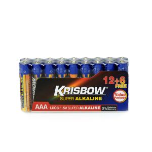 KRISBOW BATERAI ALKALINE UKURAN AAA 12+6 PCS