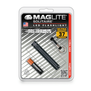 MAGLITE SENTER KECIL LED SOLITAIRE HANGPACK SJ3A016 - BLACK