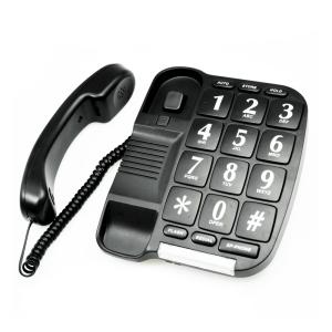 KRISBOW TELEPON BASIC TOMBOL BESAR - HITAM