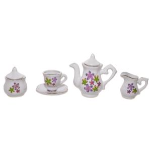 JUST FOR TEA FLOWER TEA SET - PUTIH