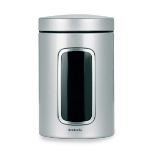 BRABANTIA CANISTER STAINLESS 1.4L - STAINLESS