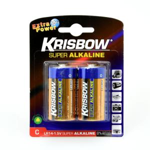 KRISBOW BATERAI ALKALINE UKURAN C 2 PCS