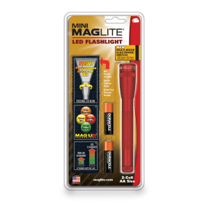 MAGLITE SENTER LED MINI MAG HANGPACK AA SP2203H - MERAH
