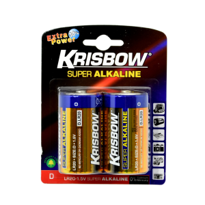 KRISBOW BATERAI ALKALINE UKURAN D 2 PCS