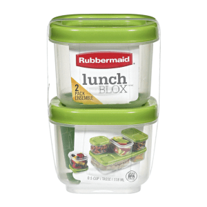 RUBBERMAID LUNCH BLOX SNACK 2 PACK - HIJAU