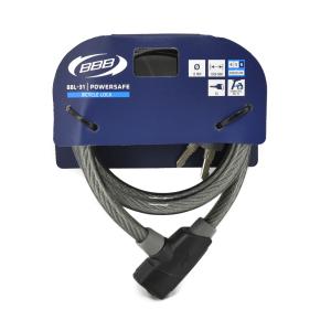 BBB POWERSAFE GEMBOK SEPEDA 12 MM X 150 CM - HITAM