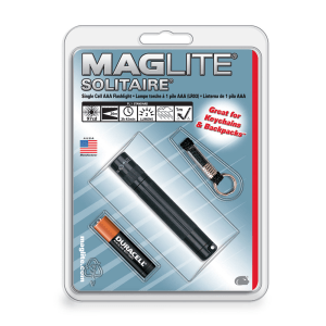 MAGLITE SENTER HANGPACK SOLITAIRE K3A016R - BLACK