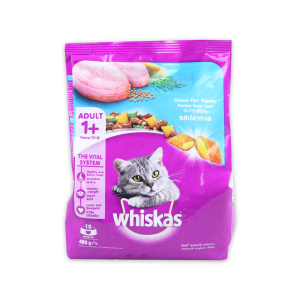 WHISKAS POCKET DRY FOOD OCEAN FISH 480 GR